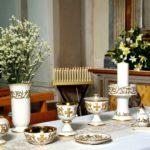 Sambuco Arte Sacra Deruta Girali verdi e oro