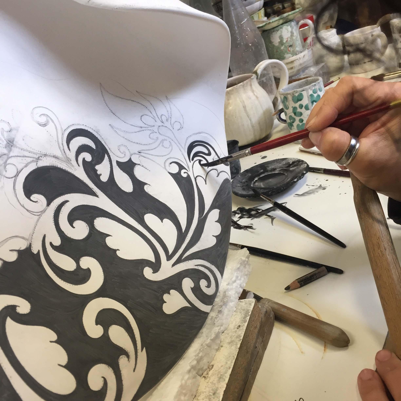 Decorazioni laboratorio Ceramiche Sambuco Mario