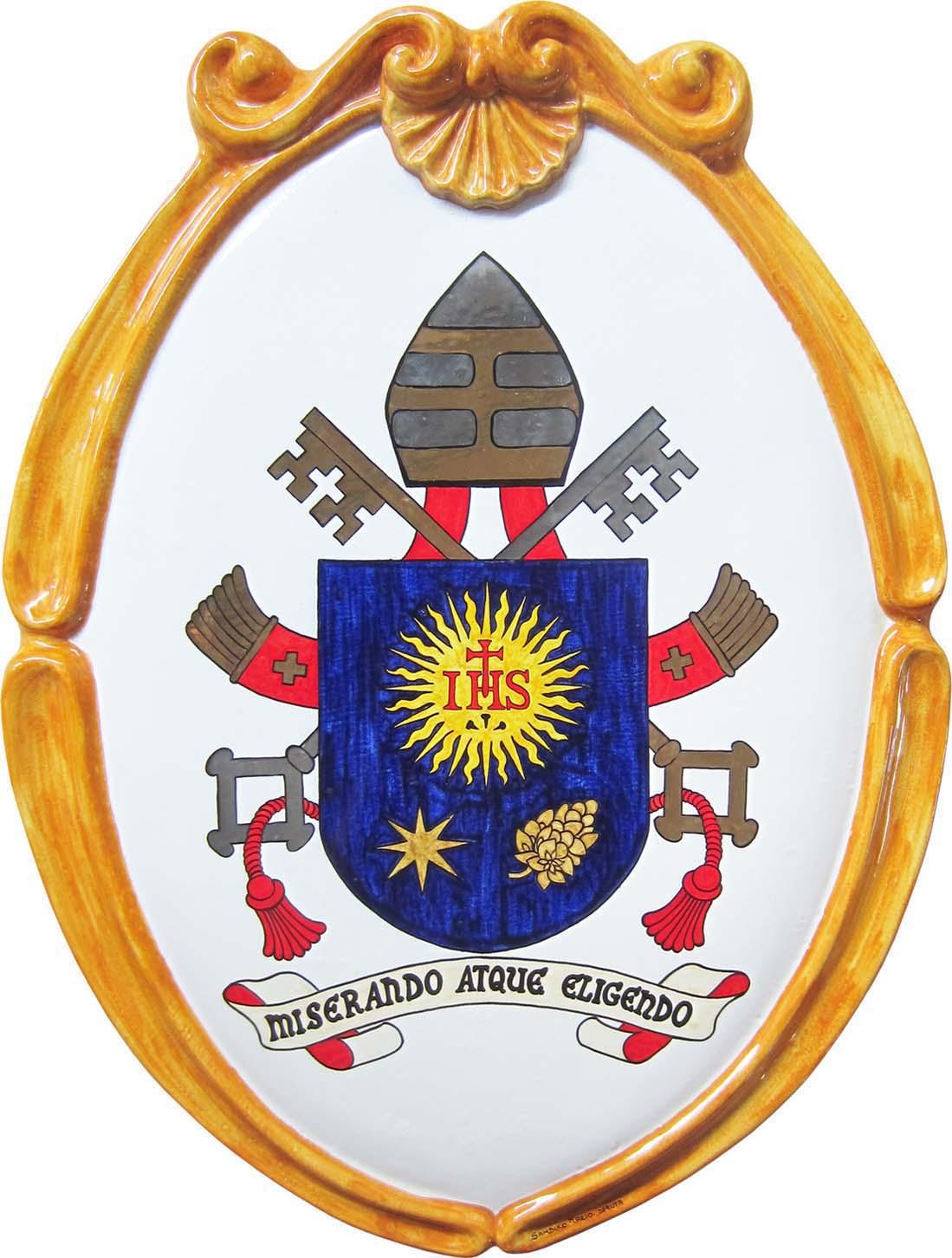 Sambuco Arte Sacra Deruta Stemma S.S. Papa Francesco
