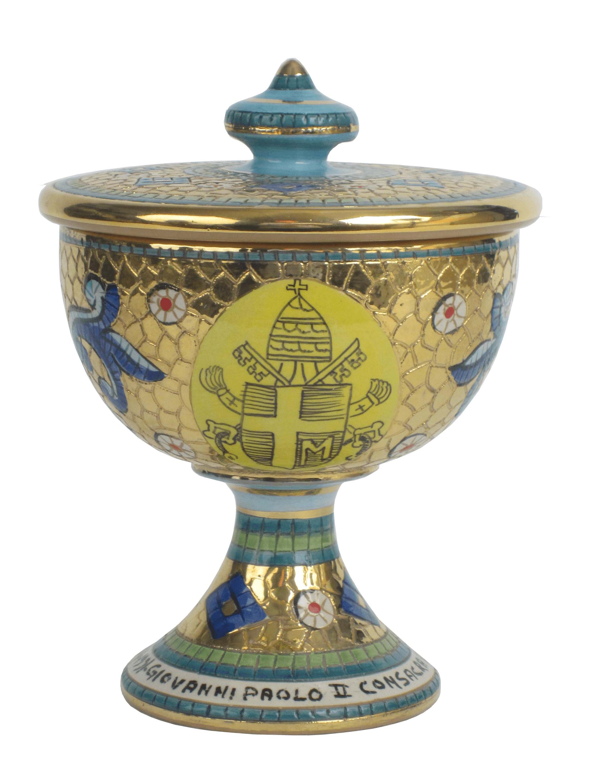 Sambuco Arte Sacra Deruta Vasi sacri Pisside San Giovanni Paolo II 02