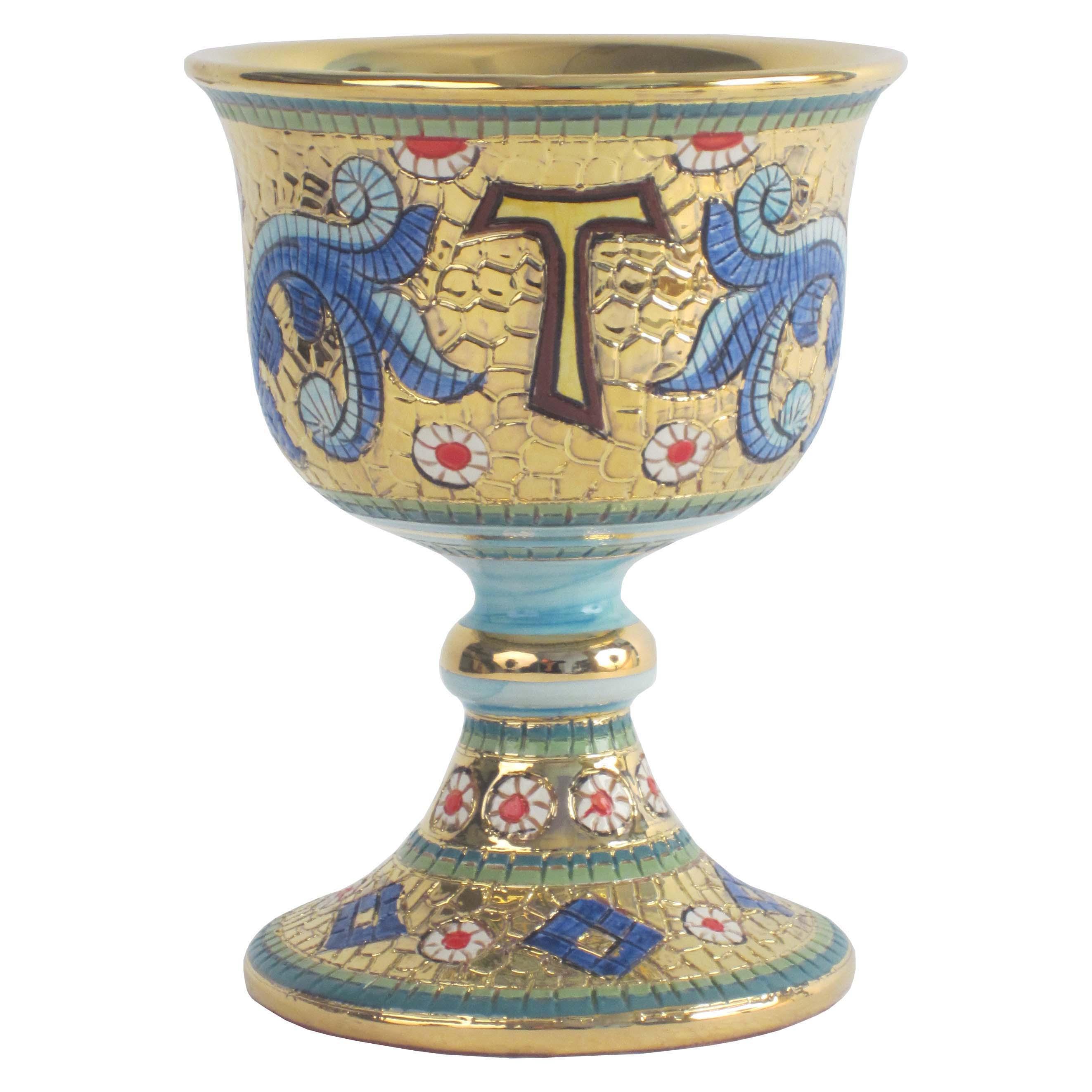 Sambuco Arte Sacra Deruta Calice bizantino con Tau