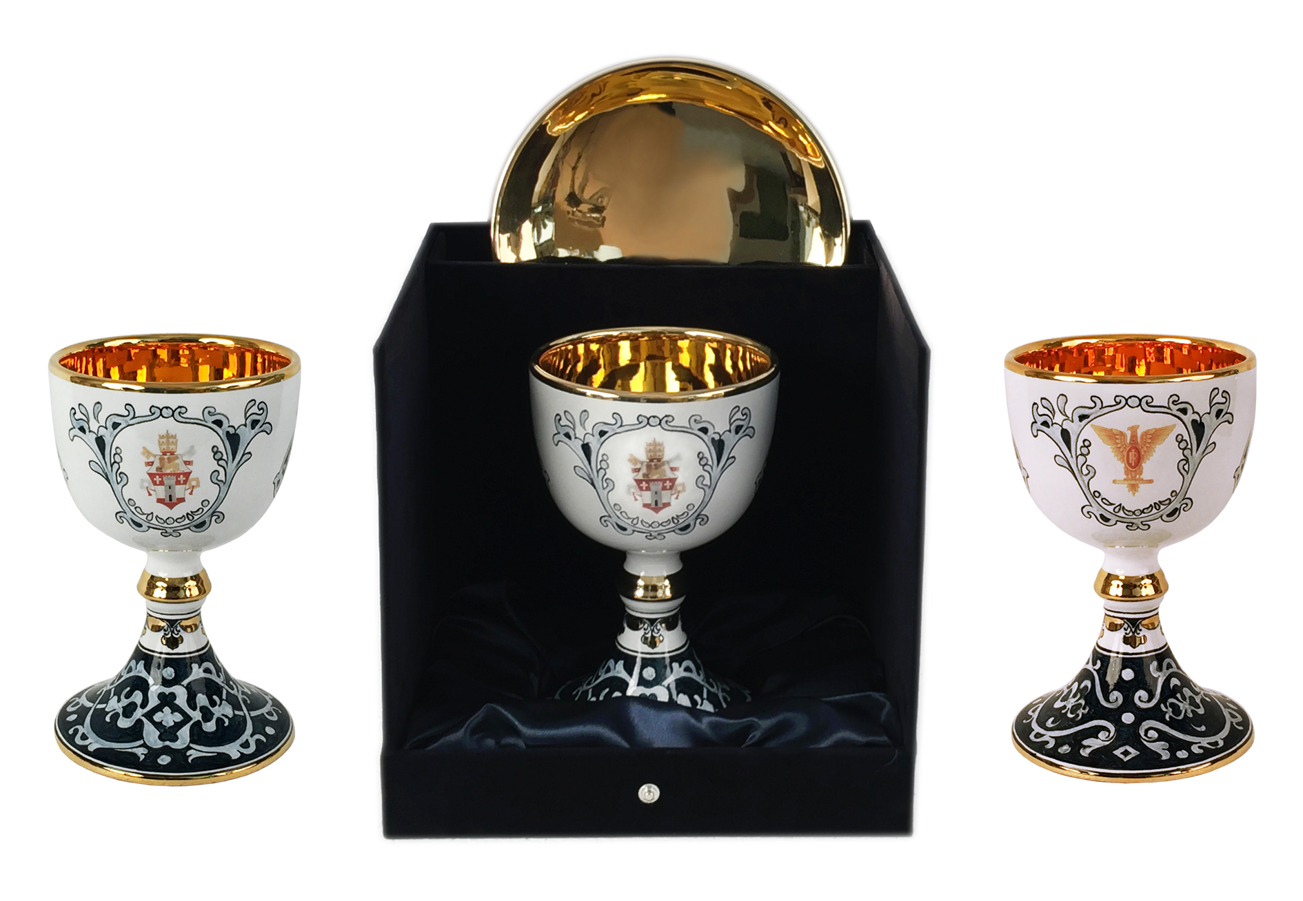 Sambuco Arte Sacra Deruta customized sacred vessels, with gift box